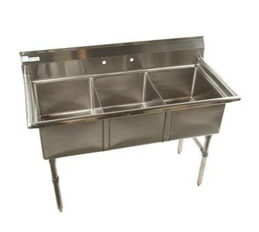 Klinger's Trading ECS3 sink, (3) three compartment