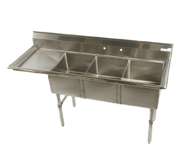 Klinger's Trading ECS3DL sink, (3) three compartment