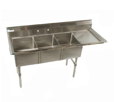 ECS3DR Klinger's Trading sink, (3) three compartment