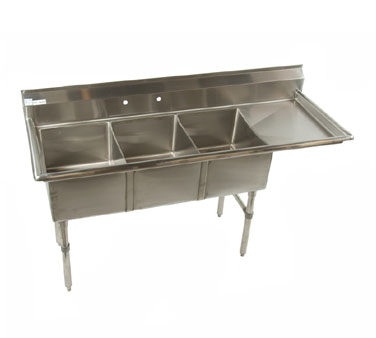 Klinger's Trading ECS3DR24 sink, (3) three compartment