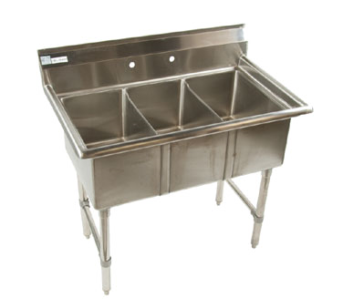 Klinger's Trading ECS3SM sink, (3) three compartment