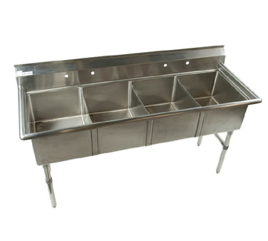 Klinger's Trading ECS4 sink, (4) four compartment