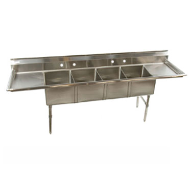 Klinger's Trading ECS42D sink, (4) four compartment