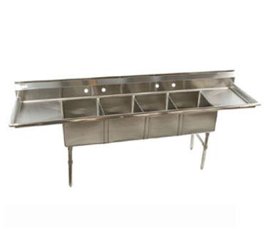 Klinger's Trading ECS42D sink, (4) four compartment