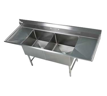 Klinger's Trading EIT22D18 sink, (2) two compartment