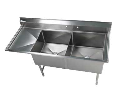 Klinger's Trading EIT2DL sink, (2) two compartment