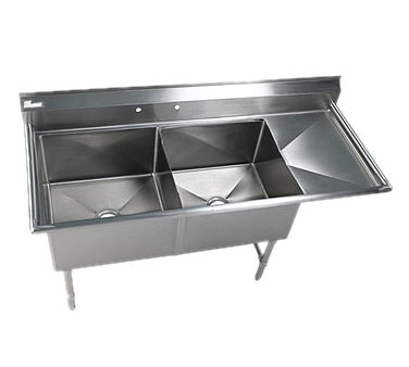 Klinger's Trading EIT2DR sink, (2) two compartment