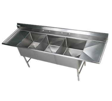 Klinger's Trading EIT32D24 sink, (3) three compartment