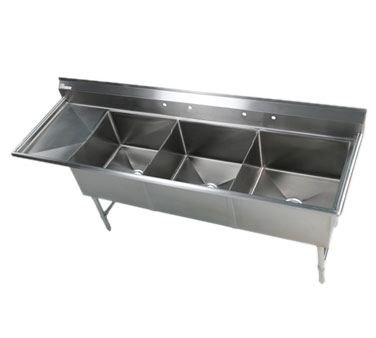 Klinger's Trading EIT3DL sink, (3) three compartment