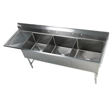 Klinger's Trading EIT3DL sink, (3) three compartment