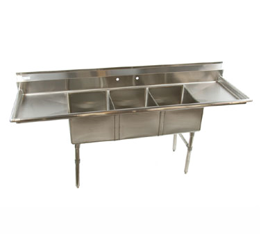 Klinger's Trading HDS32D sink, (3) three compartment