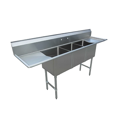 Klinger's Trading MCS32D sink, (3) three compartment