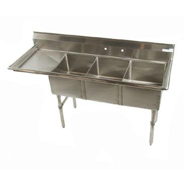 Klinger's Trading MCS3DL sink, (3) three compartment