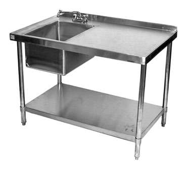 Klinger's Trading STB2472BL work table, with prep sink(s)