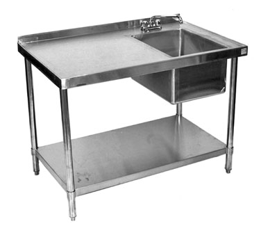 Klinger's Trading STB2484BR work table, with prep sink(s)