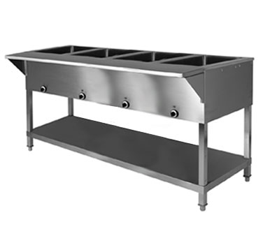 Klinger's Trading SW-4H-240/208 serving counter, hot food, electric
