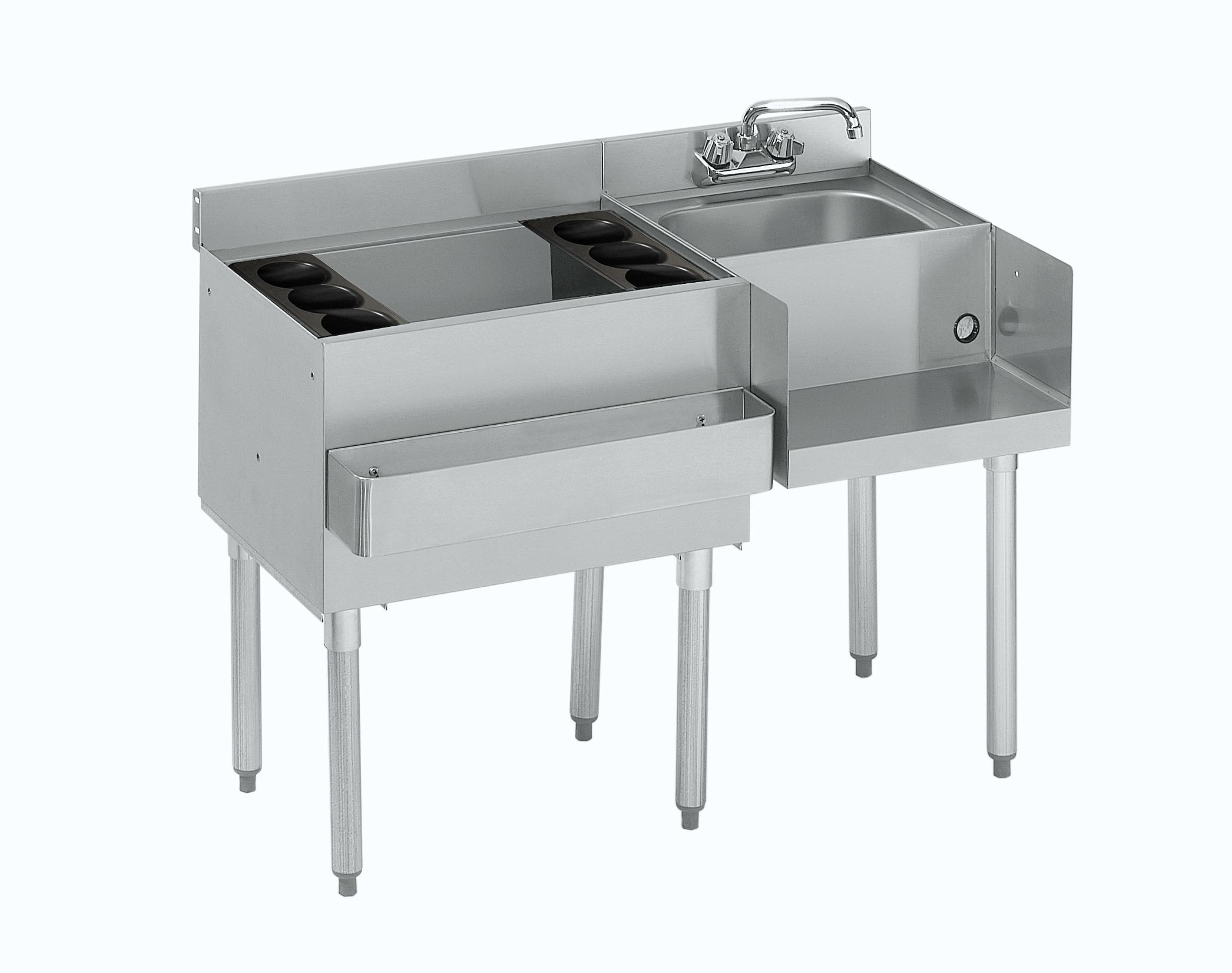 Krowne Metal 18-W48L-7 underbar ice bin/cocktail station, blender station