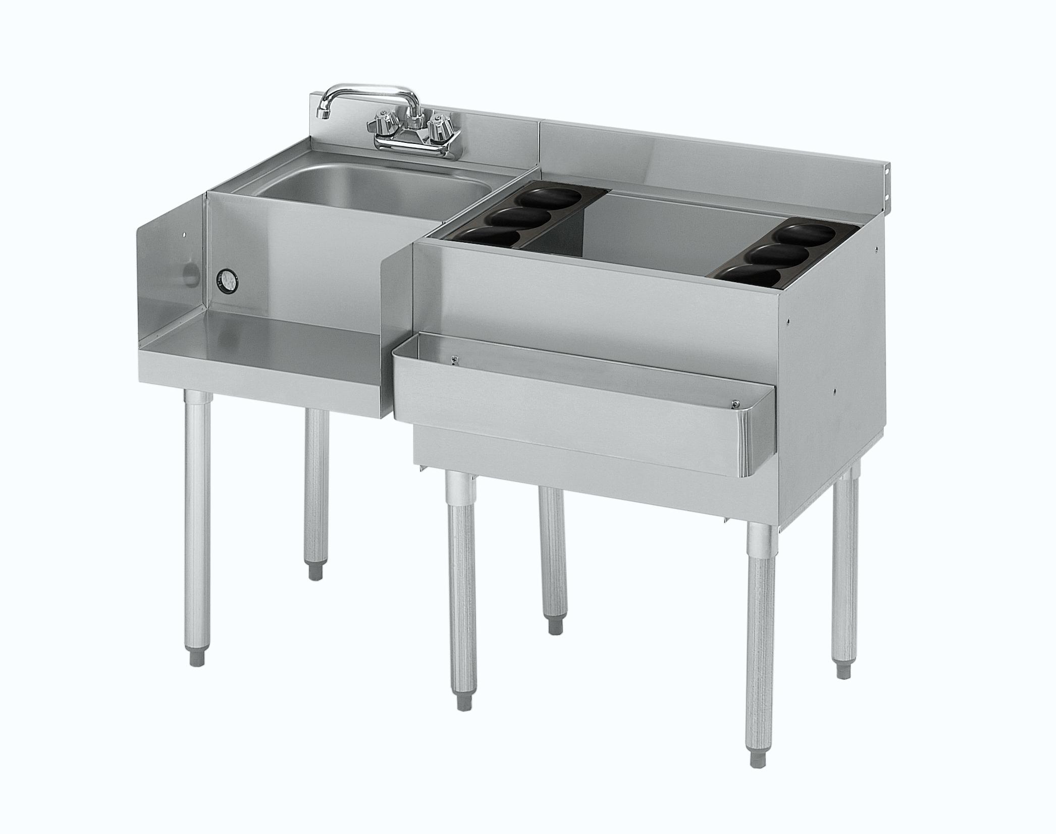 Krowne Metal 18-W54R-7 underbar ice bin/cocktail station, blender station