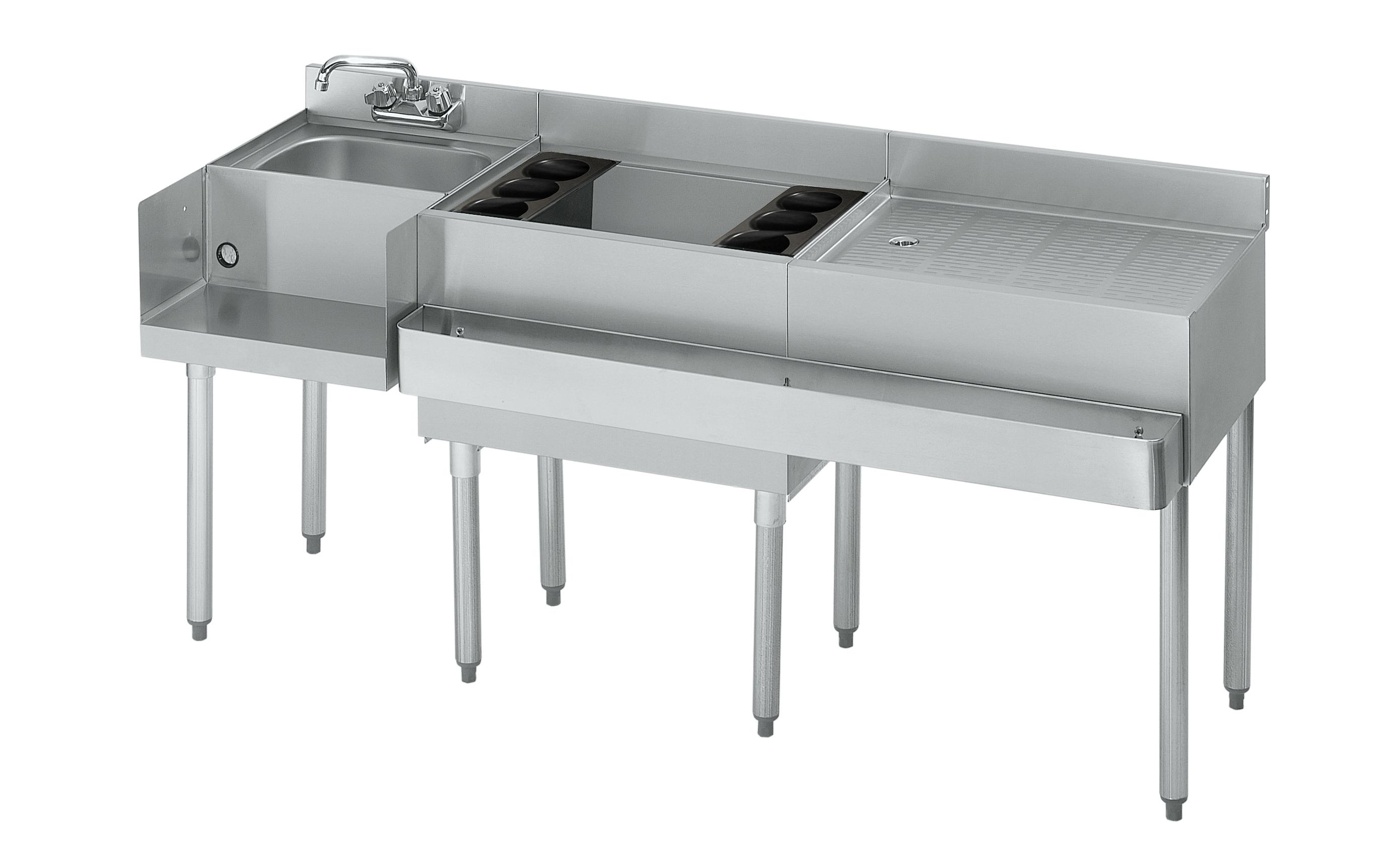 Krowne Metal 18-W66L-7 underbar ice bin/cocktail station, blender station