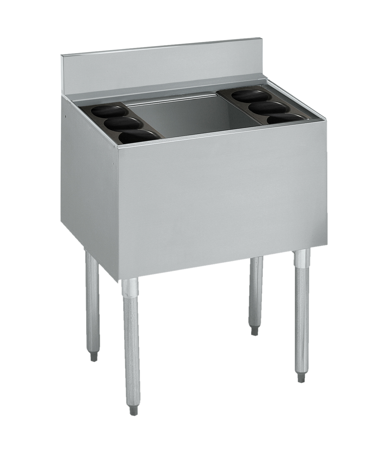 Krowne Metal 21-24DP-7 underbar ice bin/cocktail unit