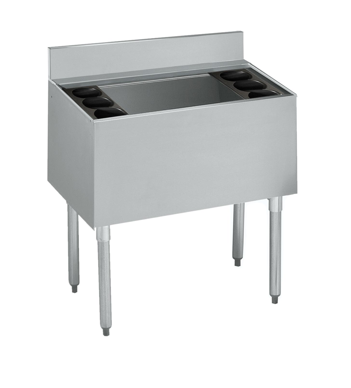 Krowne Metal 21-30DP-7 underbar ice bin/cocktail unit