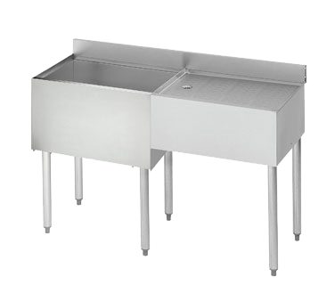 Krowne Metal 21-D48L-7 underbar ice bin/cocktail station, drainboard