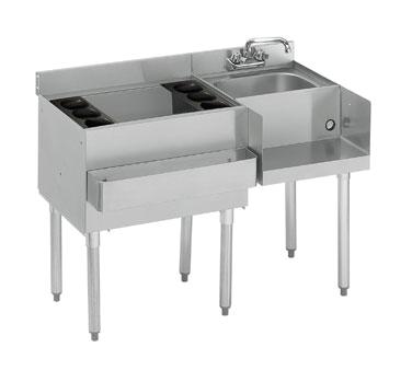 Krowne Metal 21-W48L-7 underbar ice bin/cocktail station, blender station