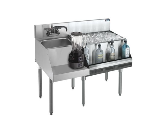 Krowne Metal 21-W48R-7 underbar ice bin/cocktail station, blender station