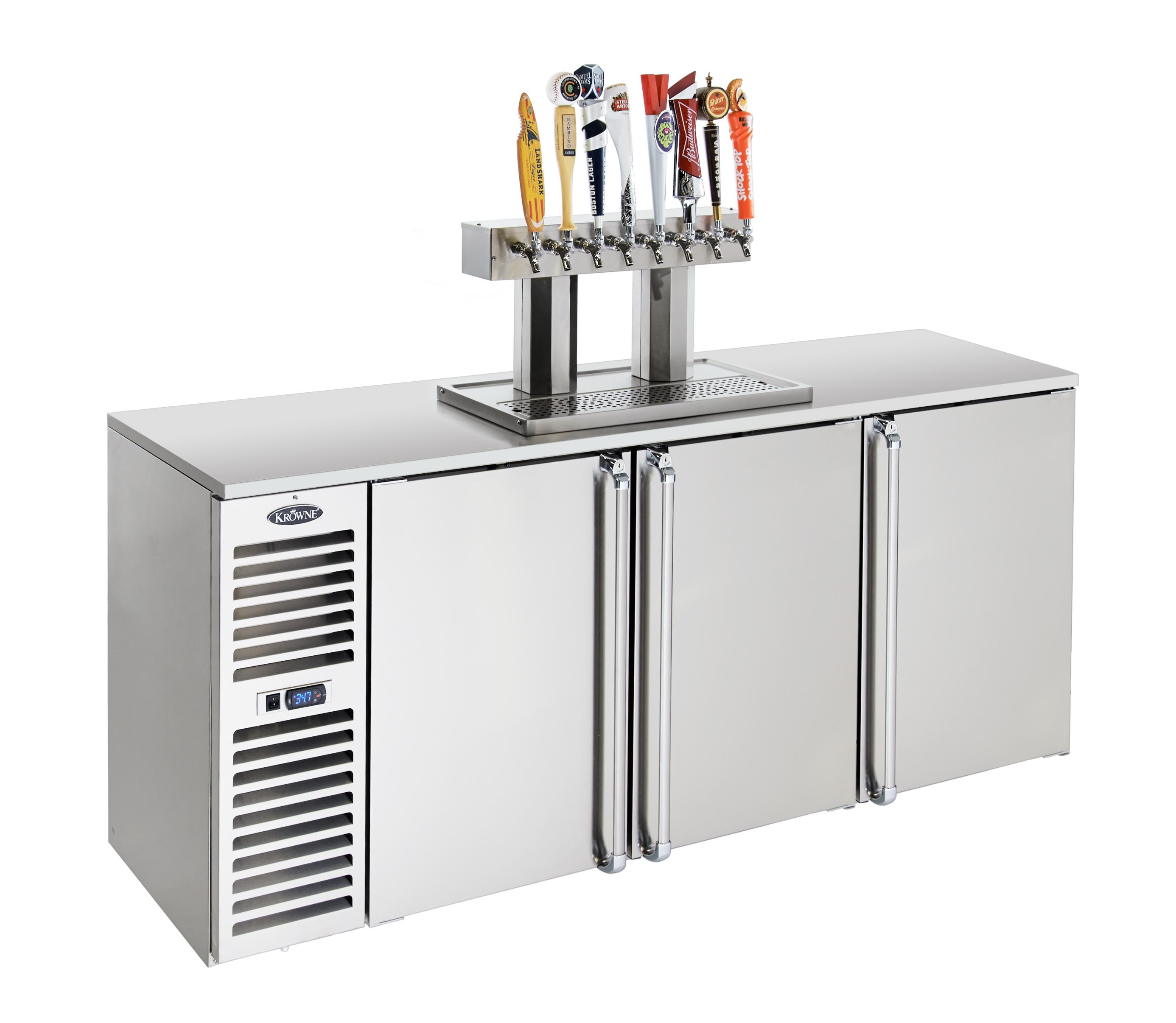 Krowne Metal DB72L-BSS-LR draft beer cooler