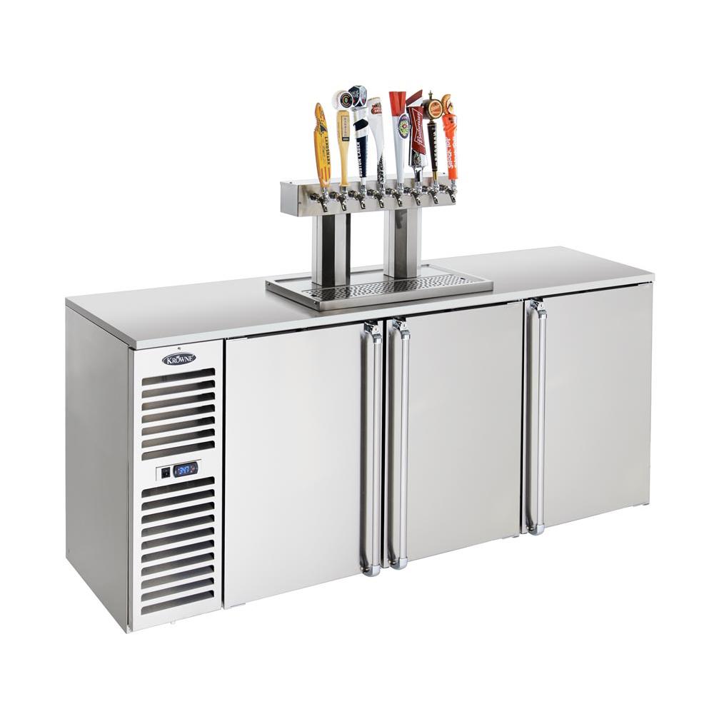 Krowne Metal DB84L-BSS-LRL draft beer cooler