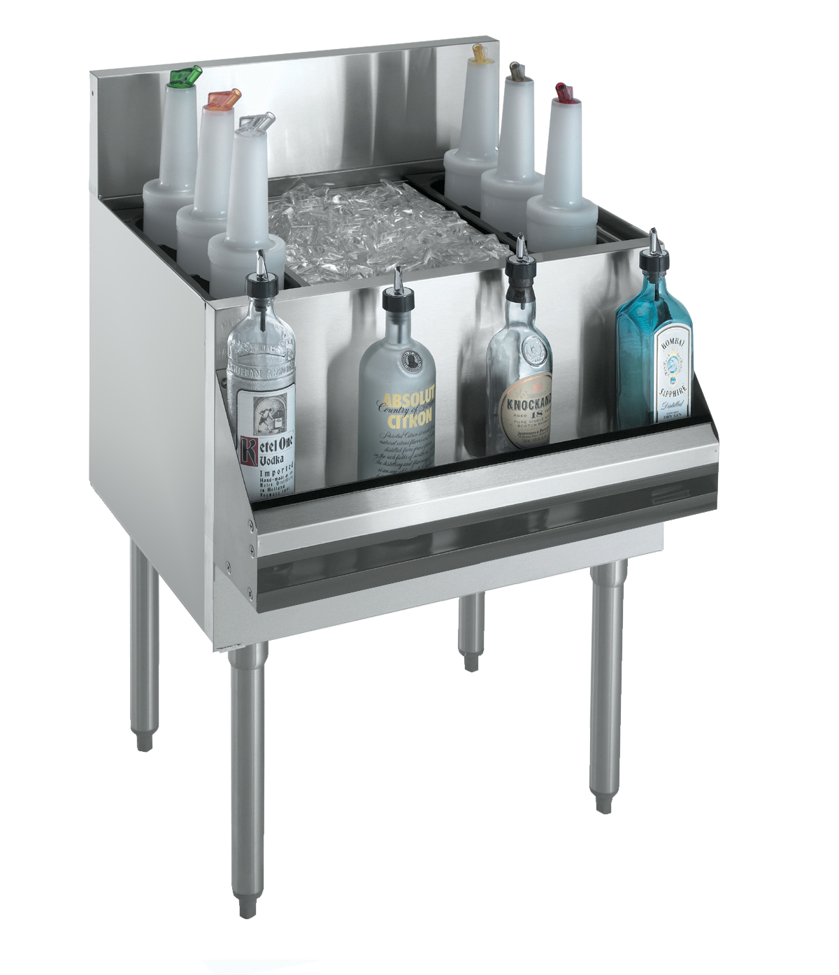 Krowne Metal KR18-48 underbar ice bin/cocktail unit