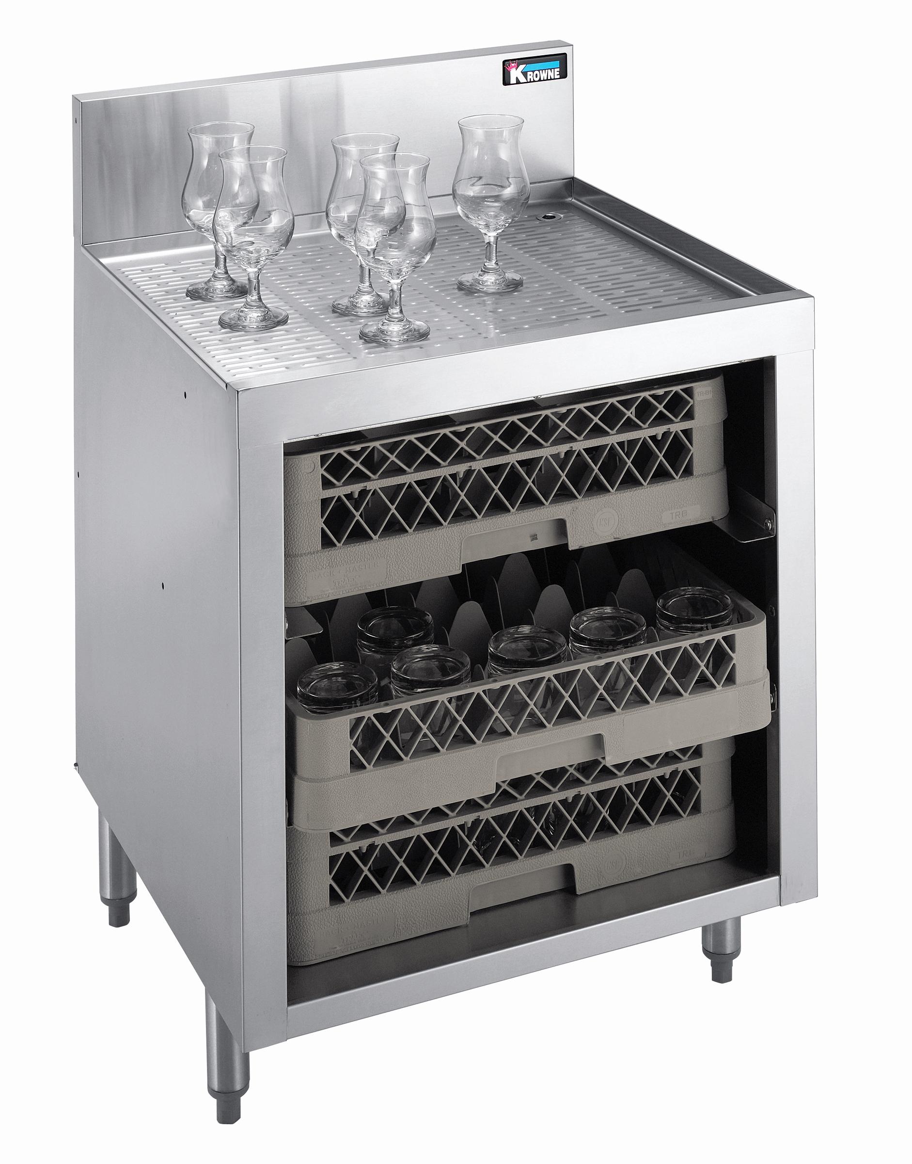 Krowne Metal KR18-GSB1 underbar glass rack storage unit