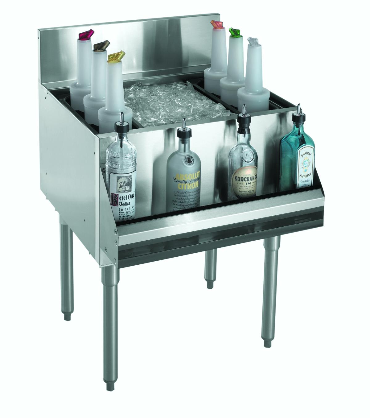 Krowne Metal KR21-24-10 underbar ice bin/cocktail unit