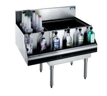 Krowne Metal KR21-M36R-10 underbar ice bin/cocktail station, bottle well bin
