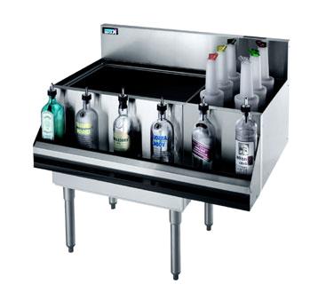 Krowne Metal KR21-M42L underbar ice bin/cocktail station, bottle well bin