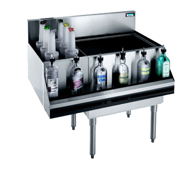 Krowne Metal KR21-M42R-10 underbar ice bin/cocktail station, bottle well bin