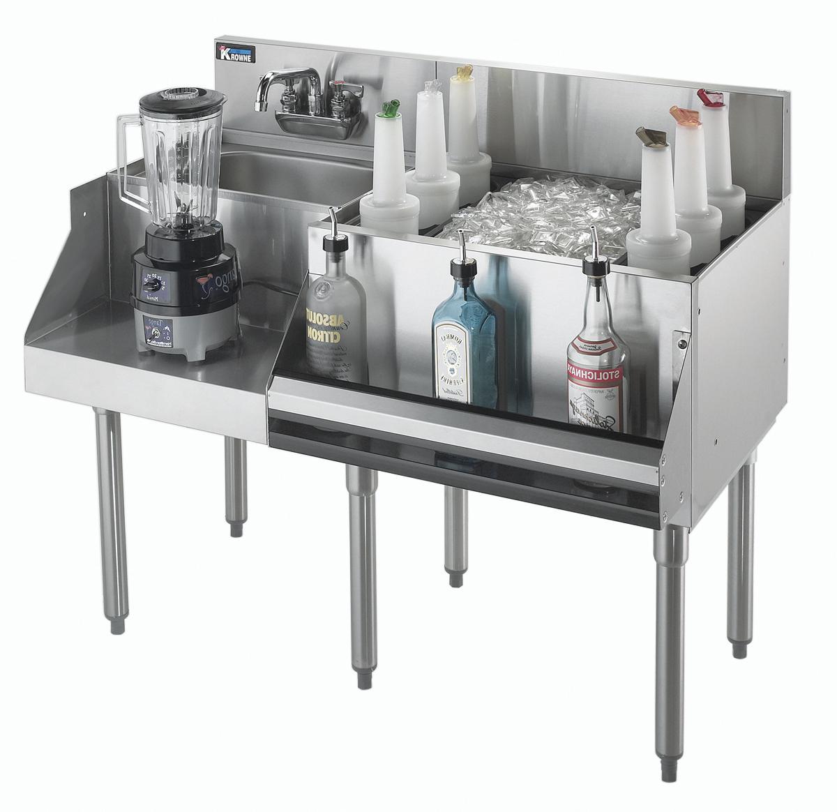 Krowne Metal KR21-W42R-10 underbar ice bin/cocktail station, blender station