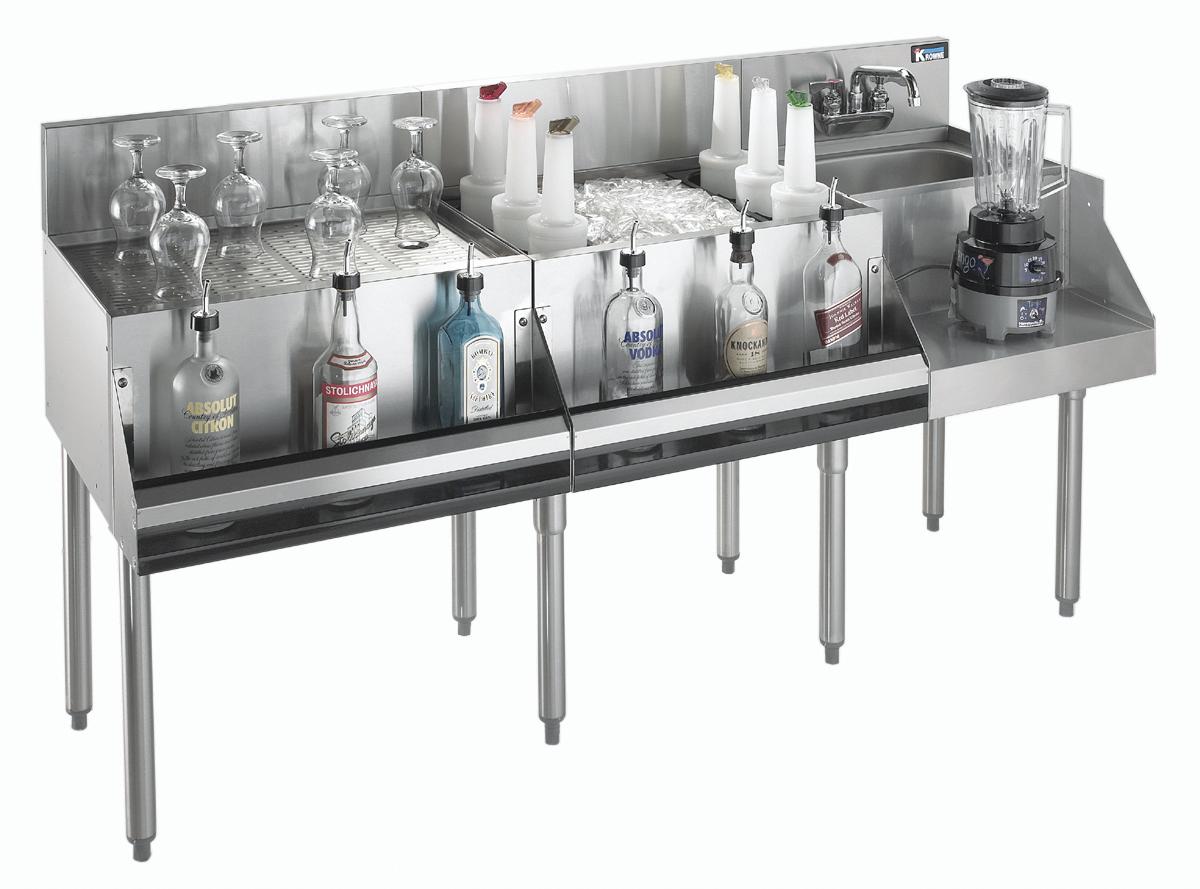 Krowne Metal KR21-W66A-10 underbar ice bin/cocktail station, blender station