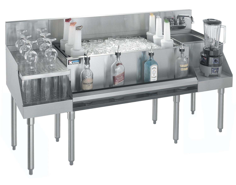 Krowne Metal KR21-W66B-10 underbar ice bin/cocktail station, blender station