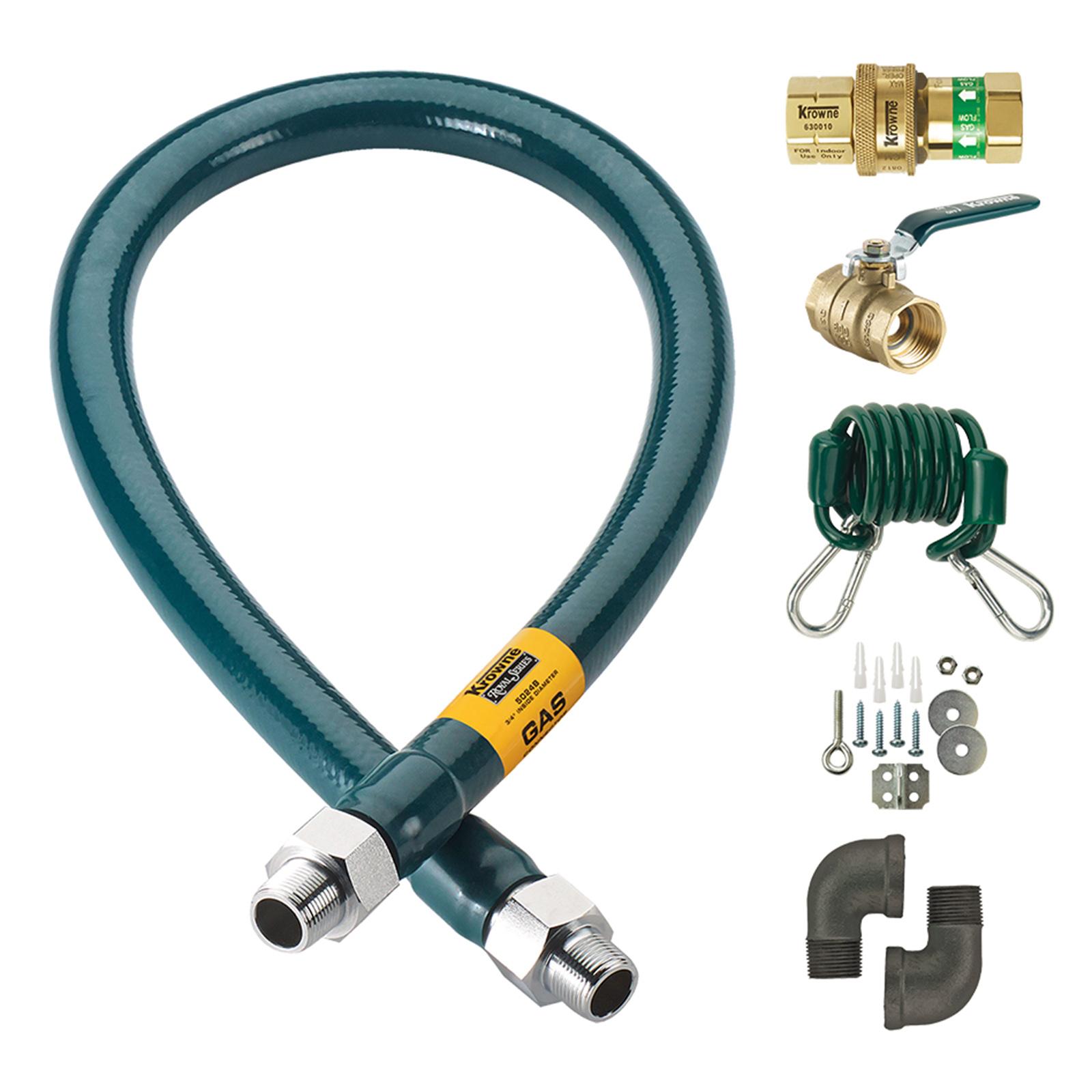 Krowne Metal M12524K gas connector hose kit