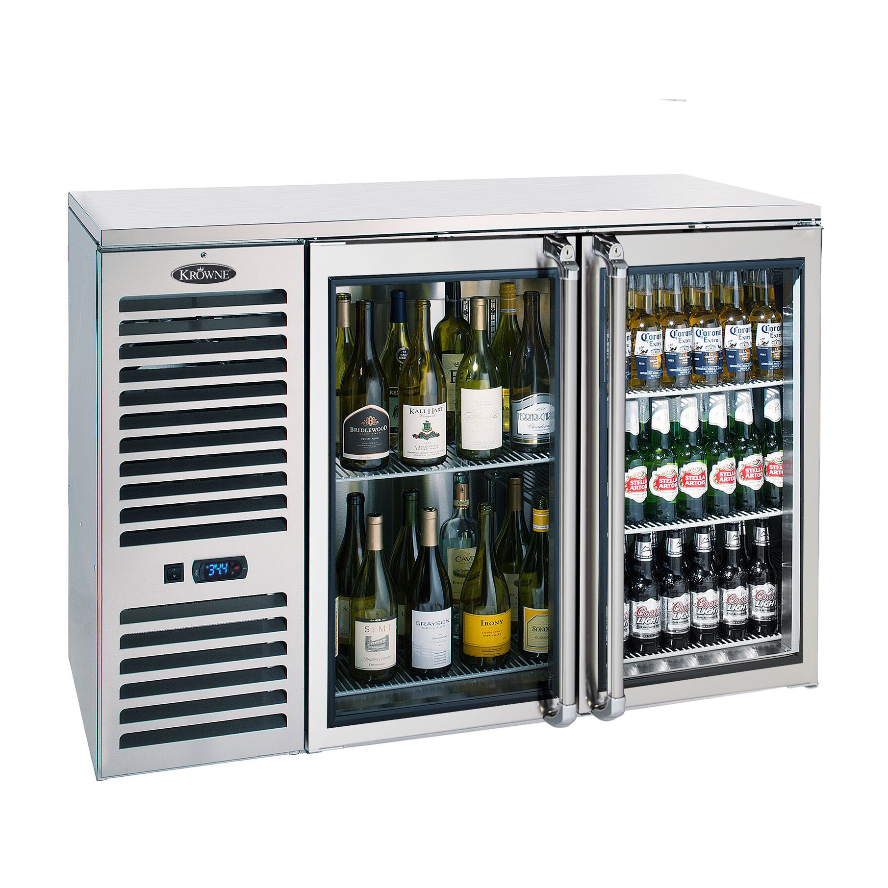 Krowne Metal NS52 back bar cabinet, refrigerated