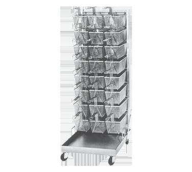 Keating 32-003916 fryer basket rack, mobile