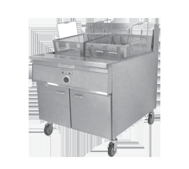 Keating 34X24BBE fryer, electric, floor model, full pot