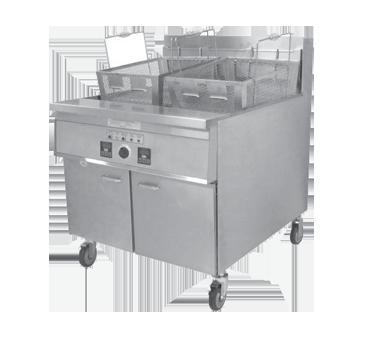 Keating 34X24TS fryer, gas, floor model, full pot