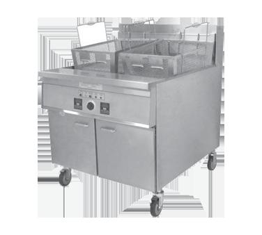 Keating 34X24TSE fryer, electric, floor model, full pot