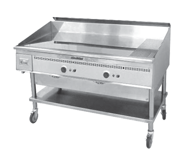 Keating 48X24-G griddle, gas, countertop