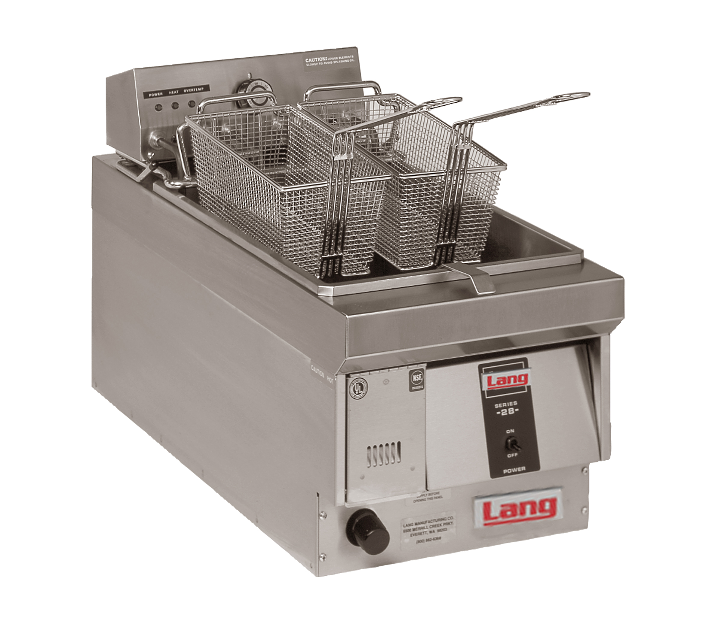 Lang Manufacturing 130FM fryer, electric, countertop, full pot