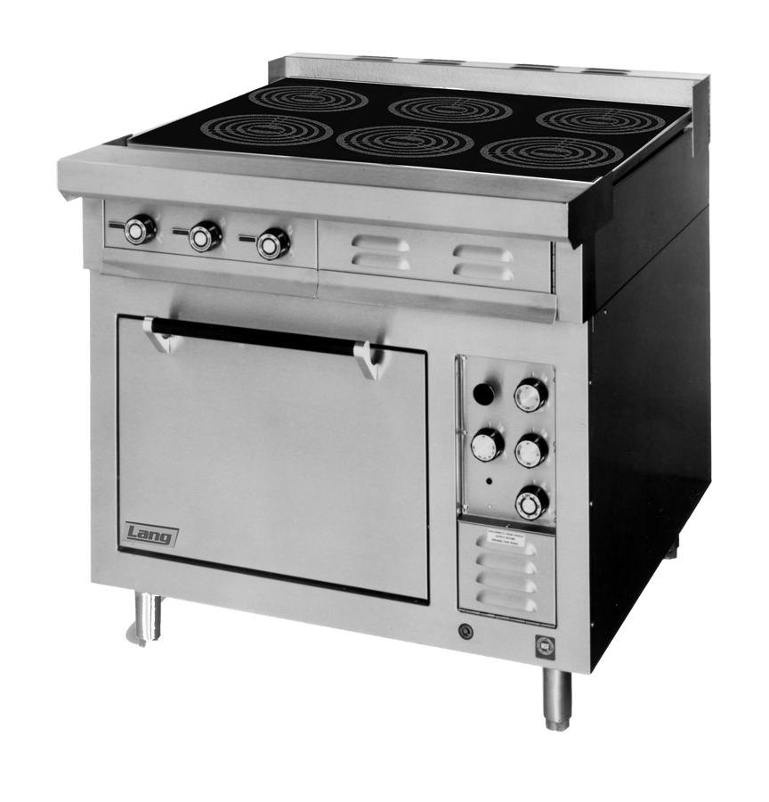 Lang Manufacturing RI36S-ATE induction range, floor model