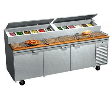 La Rosa Refrigeration 2093-PTB refrigerated counter, pizza prep table