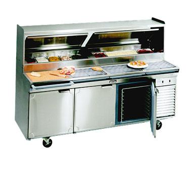 La Rosa Refrigeration 2586-PTB refrigerated counter, pizza prep table